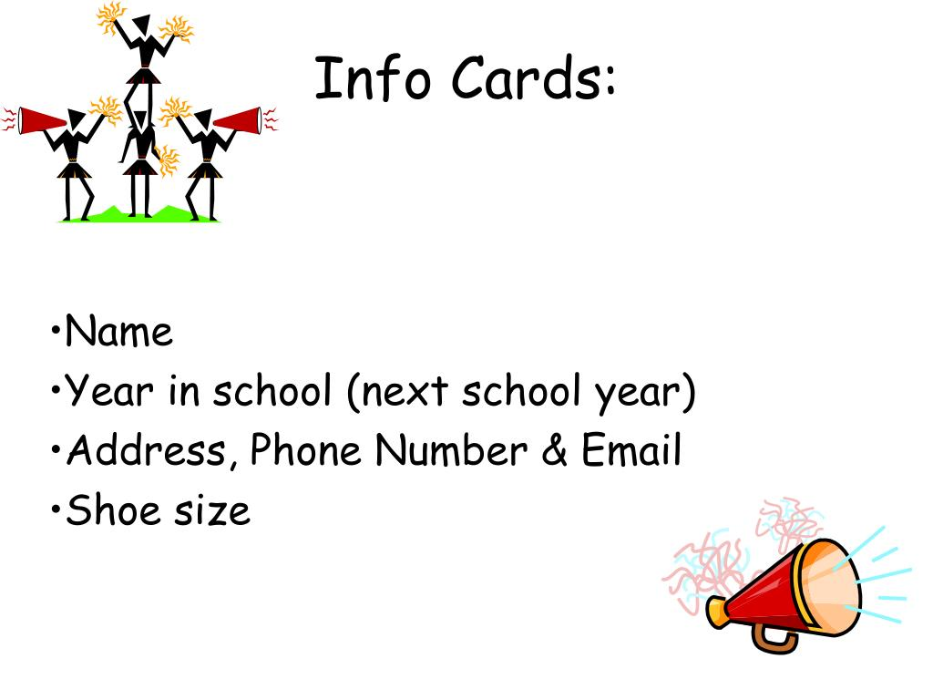 Info Cards: