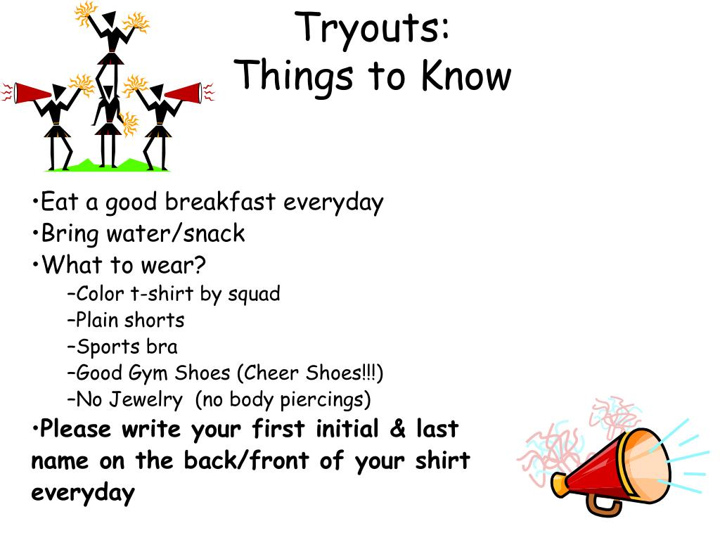Tryouts:
