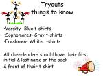tryouts things to know10