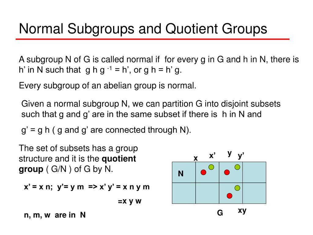 Normal Subgroups and Quotient Groups