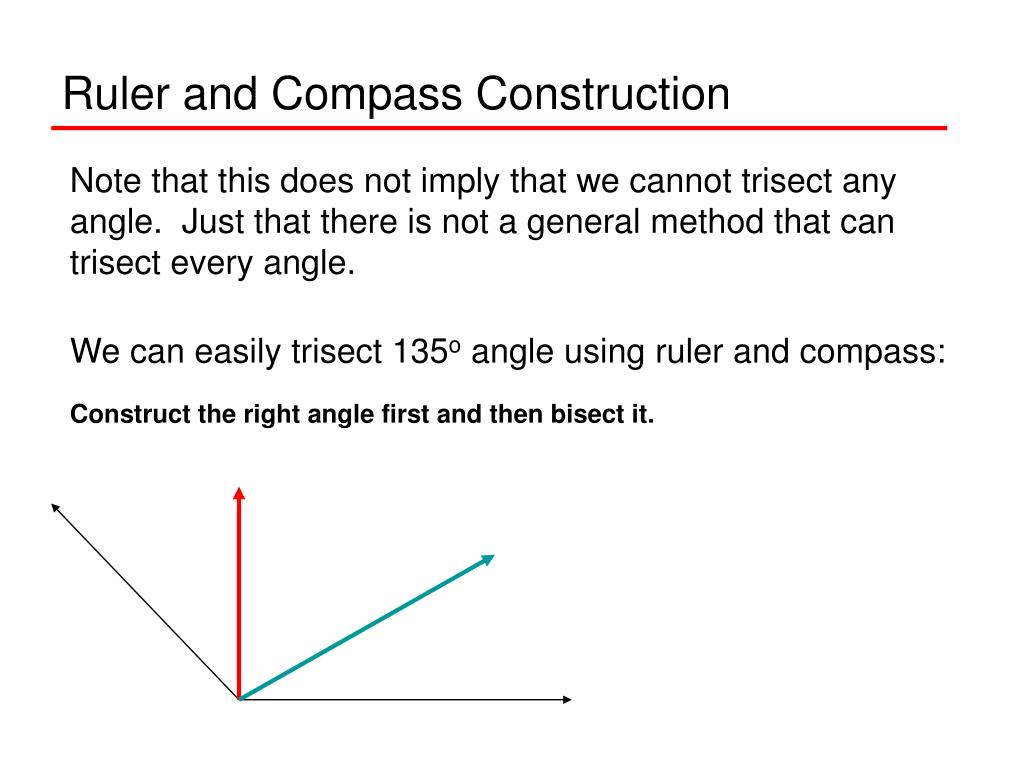 Ruler and Compass Construction