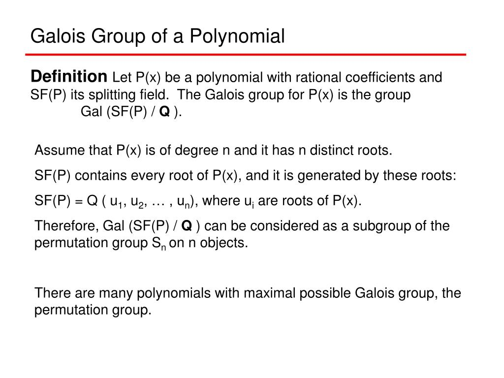 Galois Group of a Polynomial
