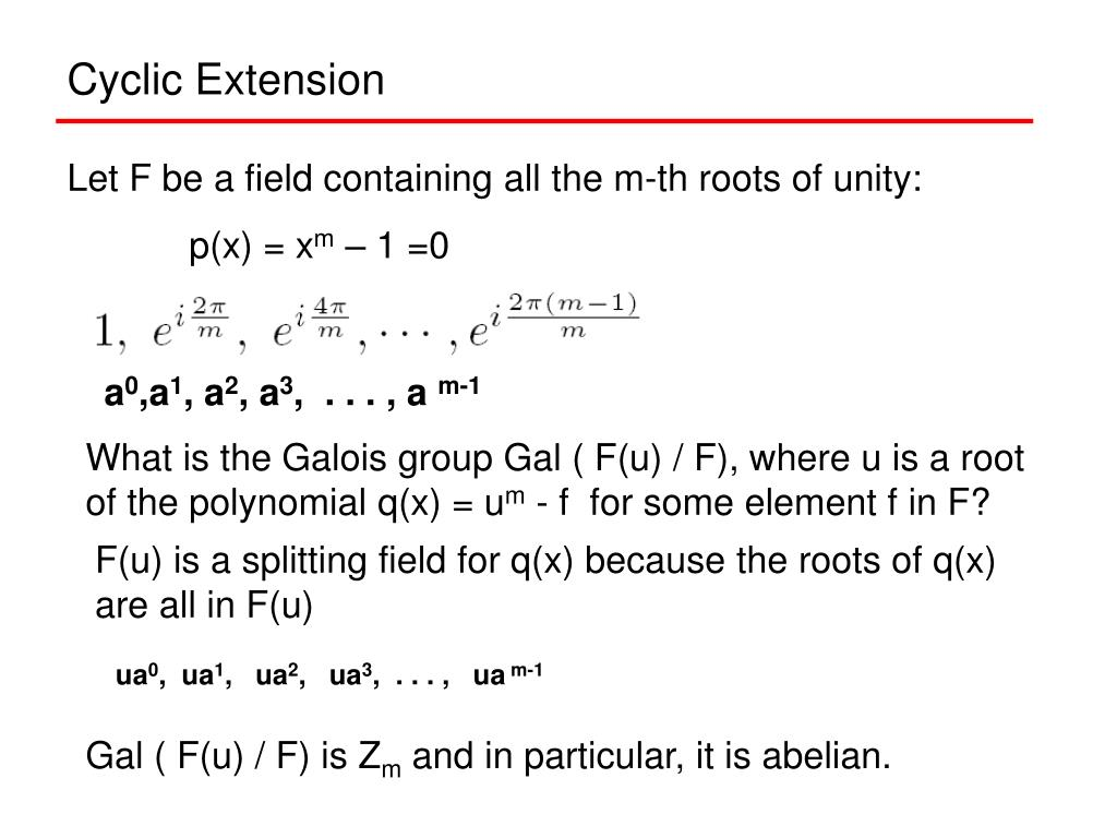 Cyclic Extension