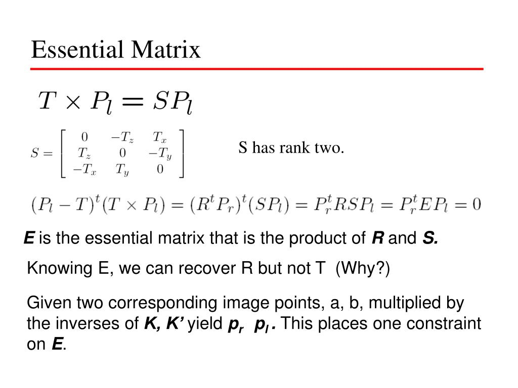 Essential Matrix