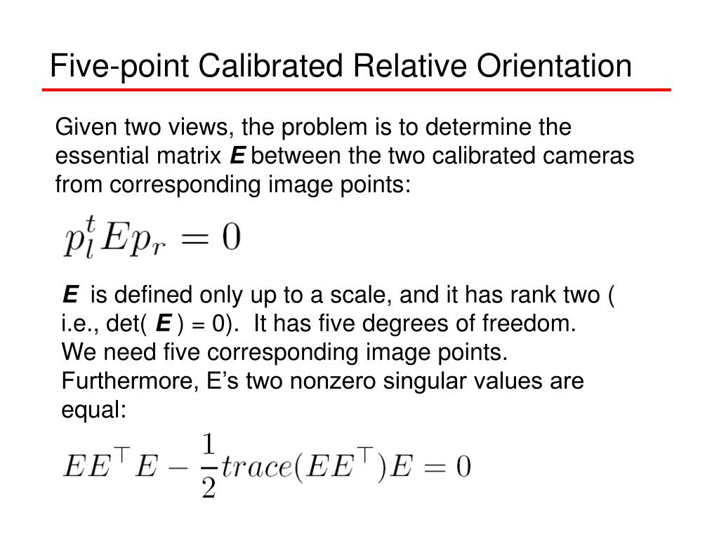 Five-point Calibrated Relative Orientation