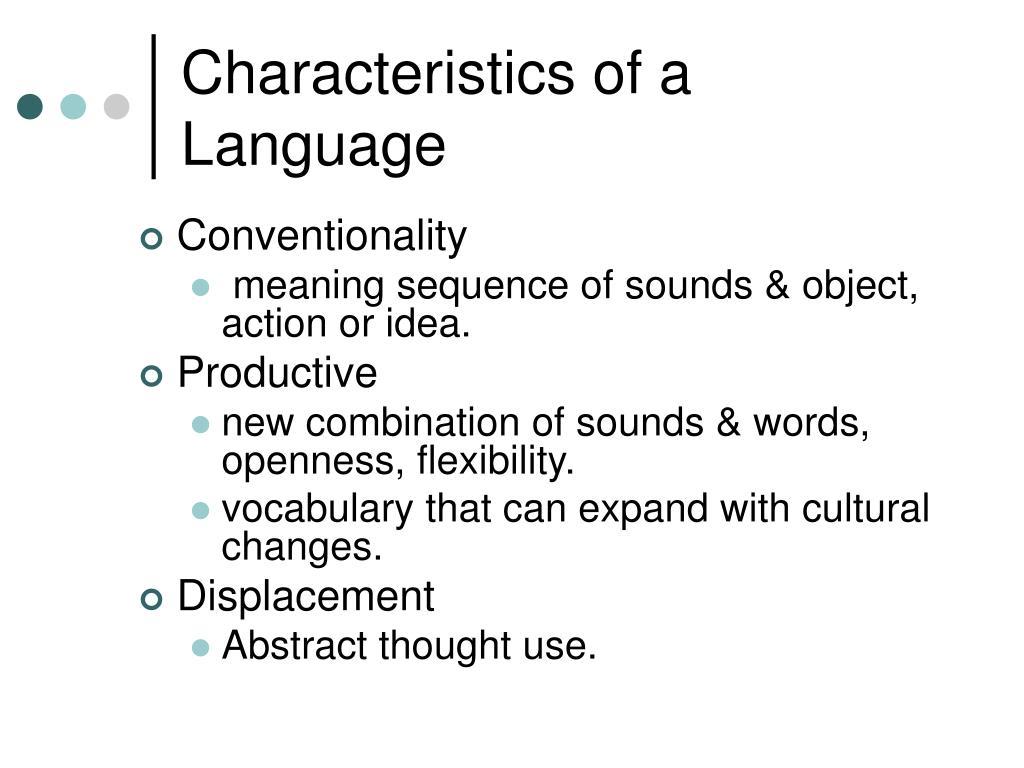 Characteristics of a Language