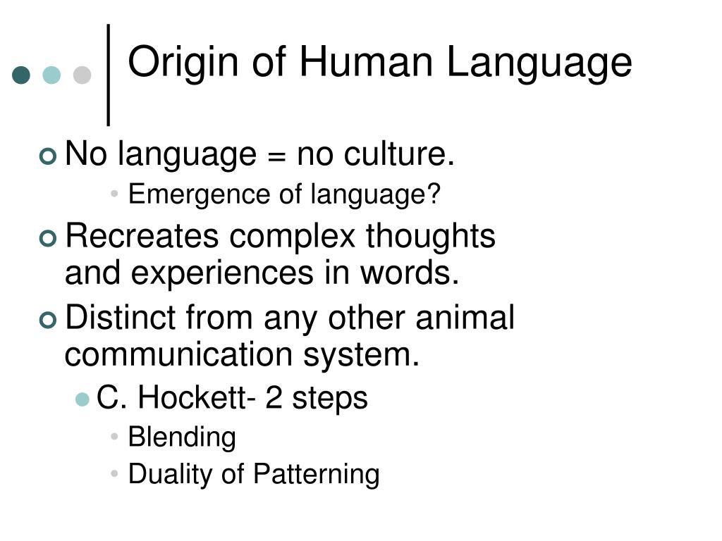 Origin of Human Language