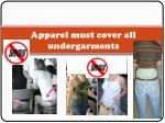 apparel must cover all undergarments