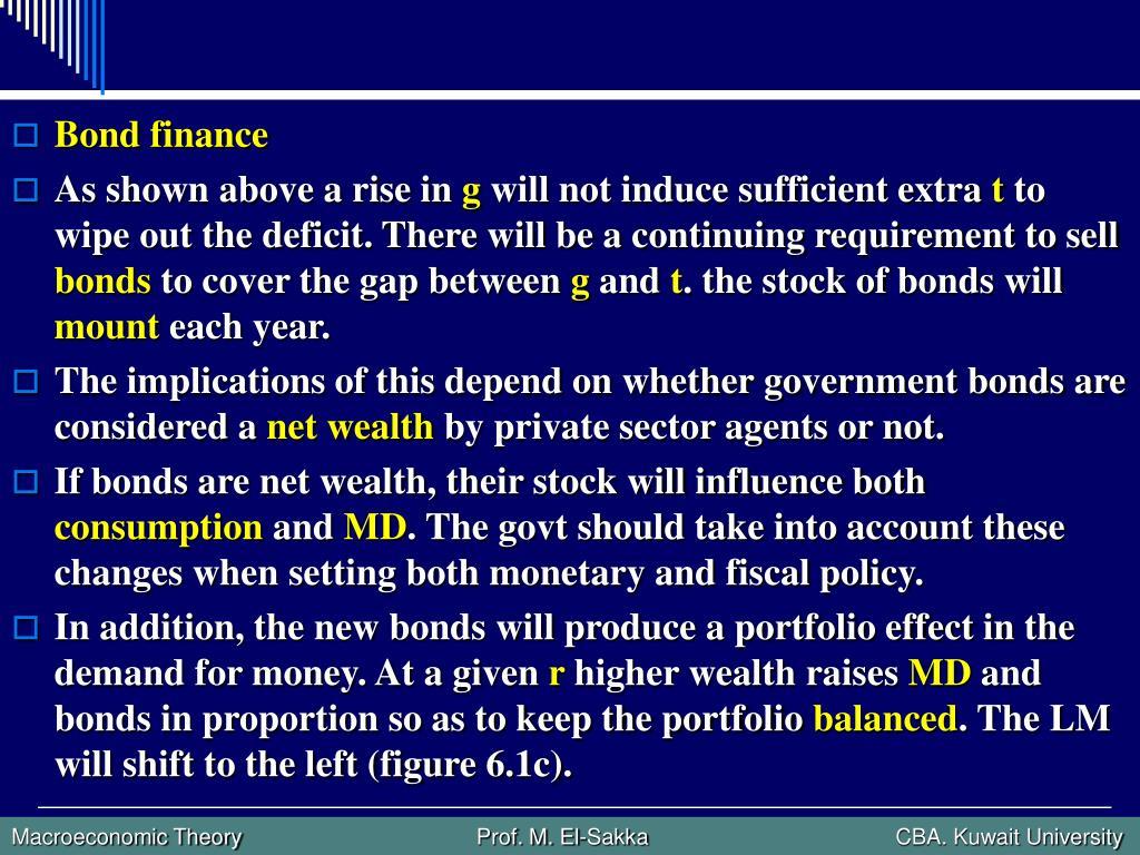 Bond finance