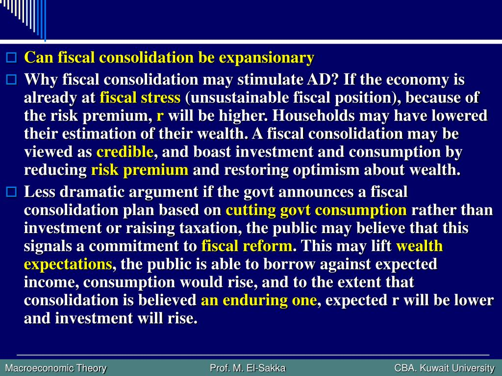 Can fiscal consolidation be expansionary
