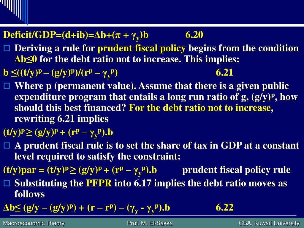 Deficit/GDP=(d+ib)=