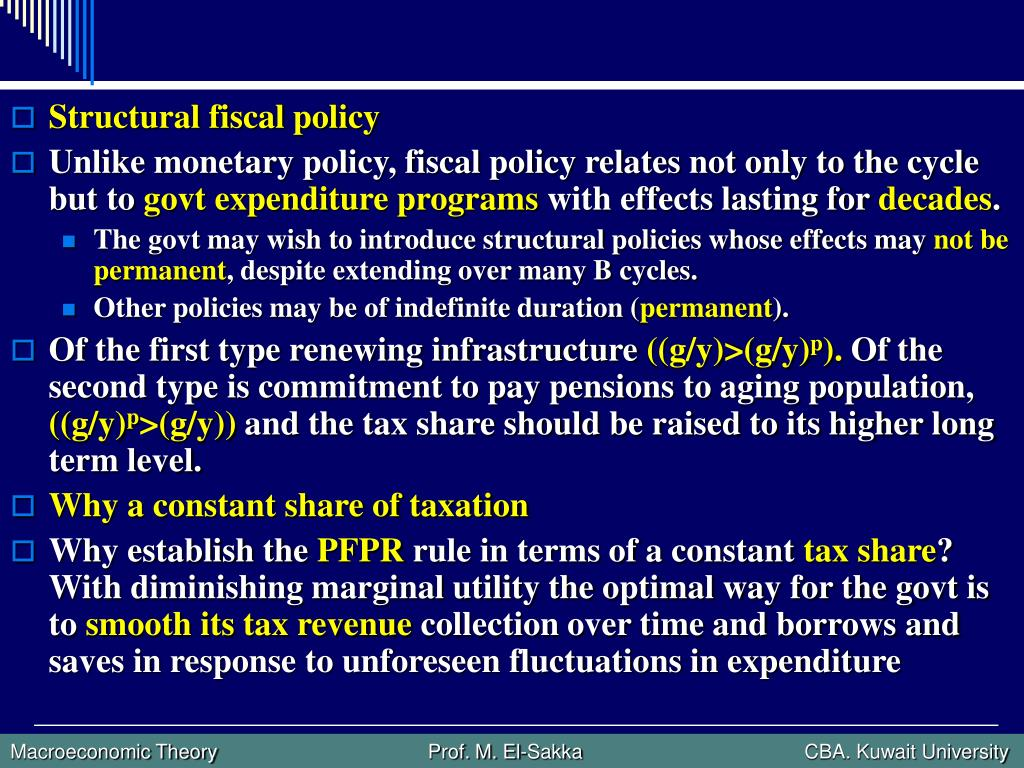 Structural fiscal policy