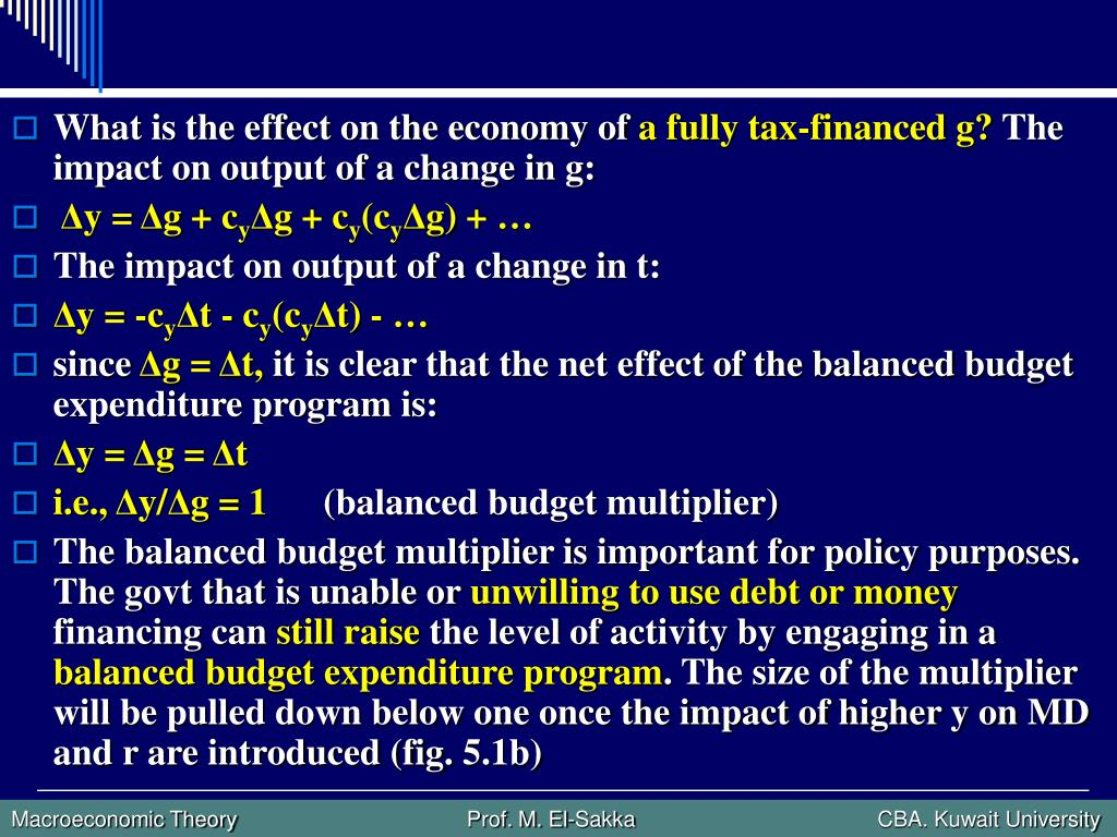 What is the effect on the economy of