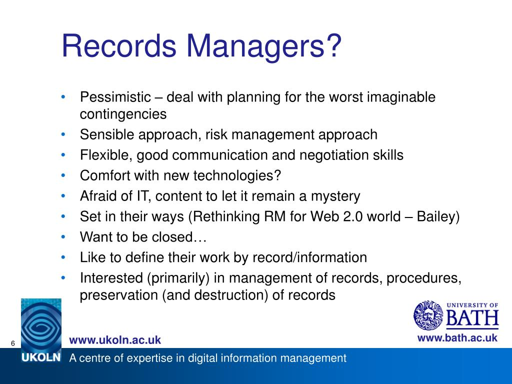 Records Managers?