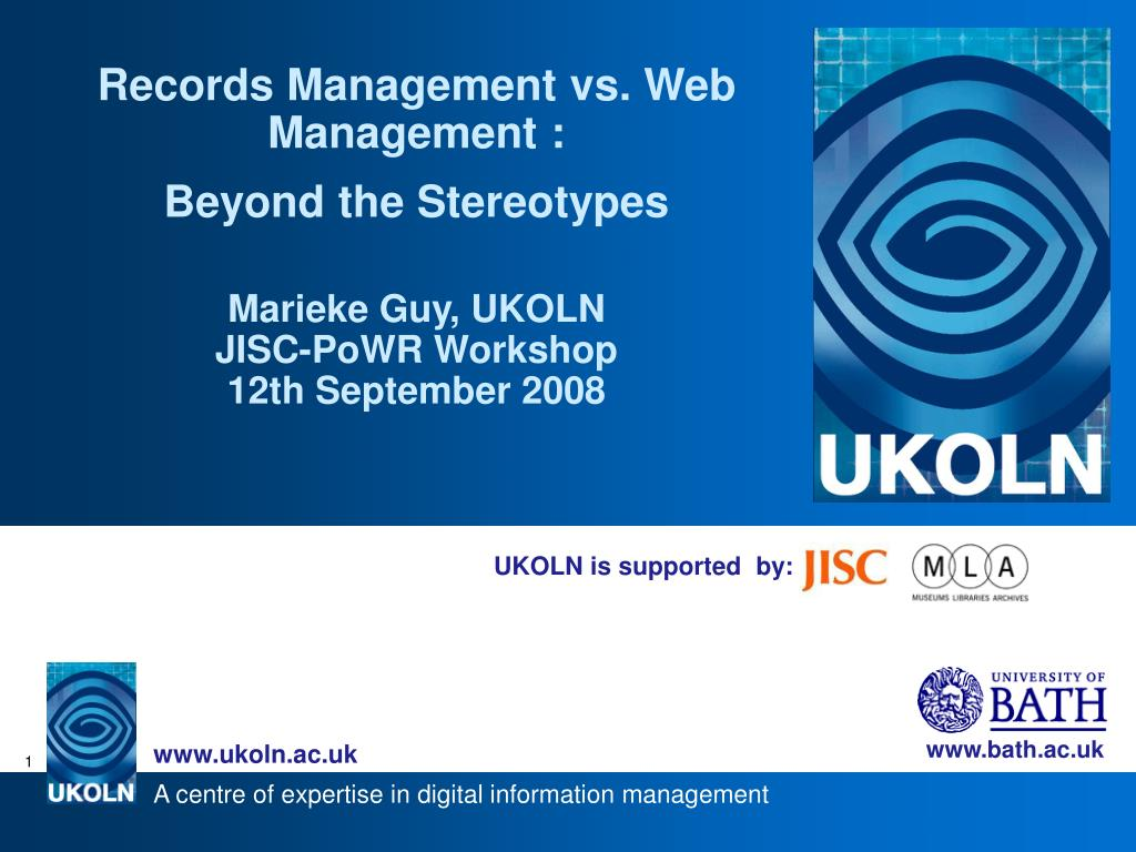 Records Management vs. Web Management :