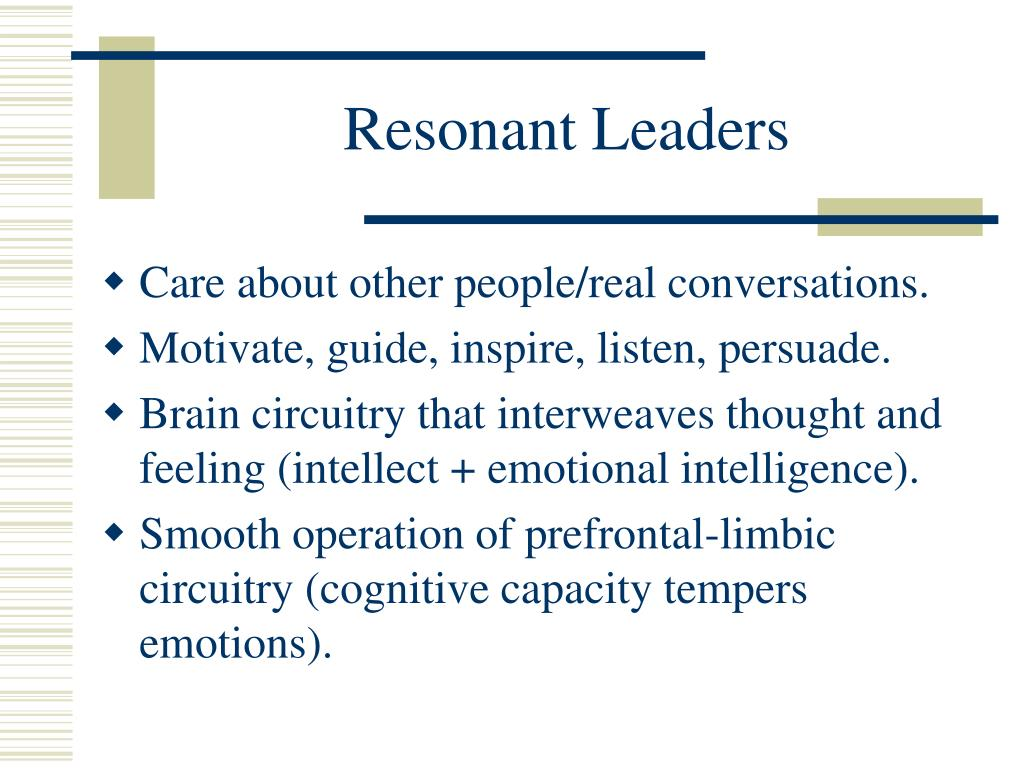 Resonant Leaders