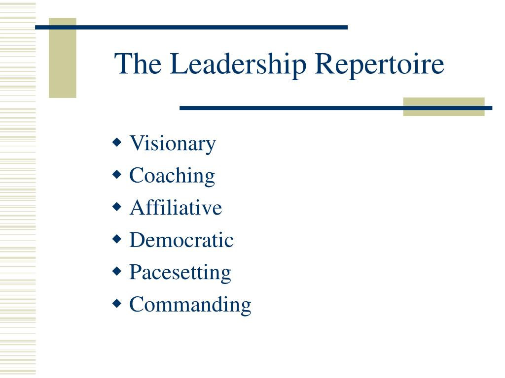 The Leadership Repertoire