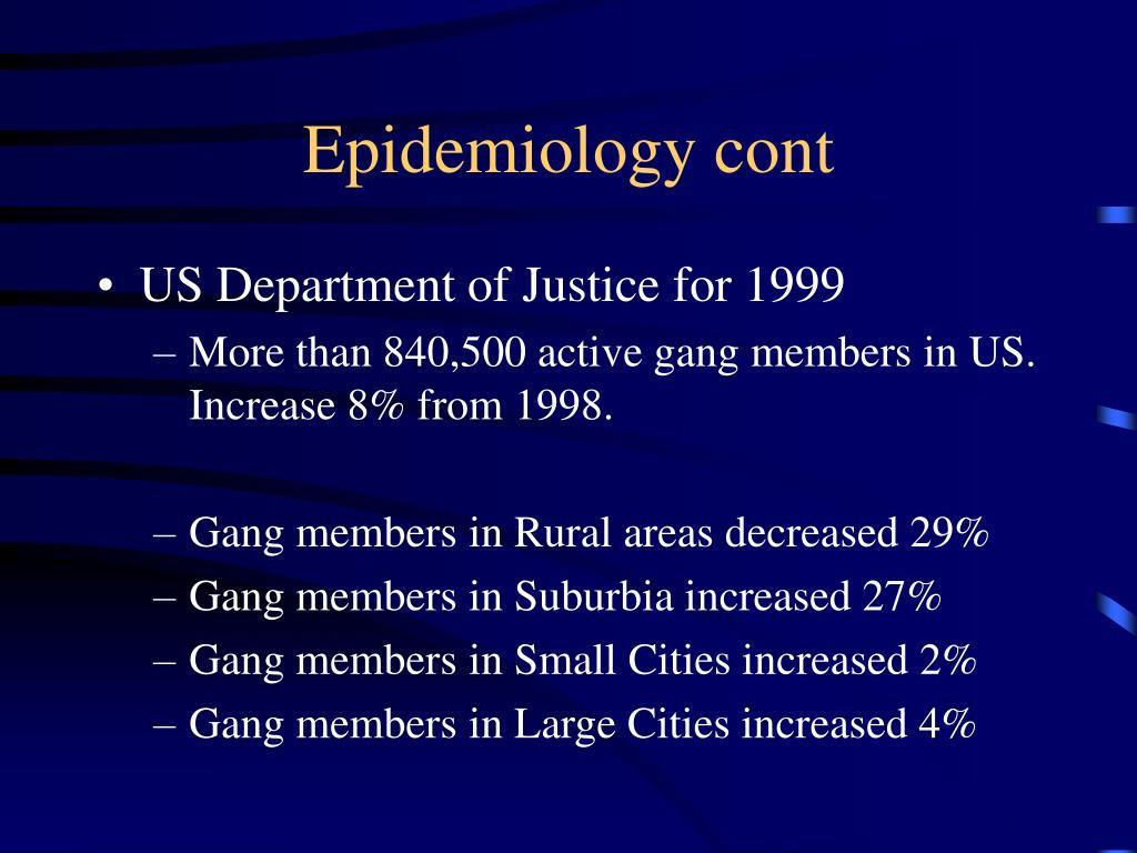Epidemiology cont