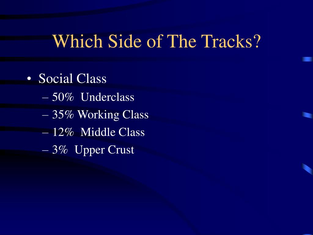 Which Side of The Tracks?