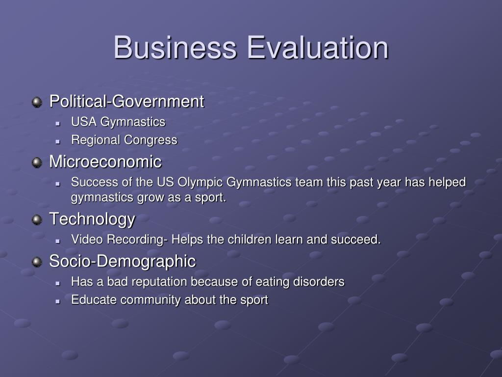Business Evaluation