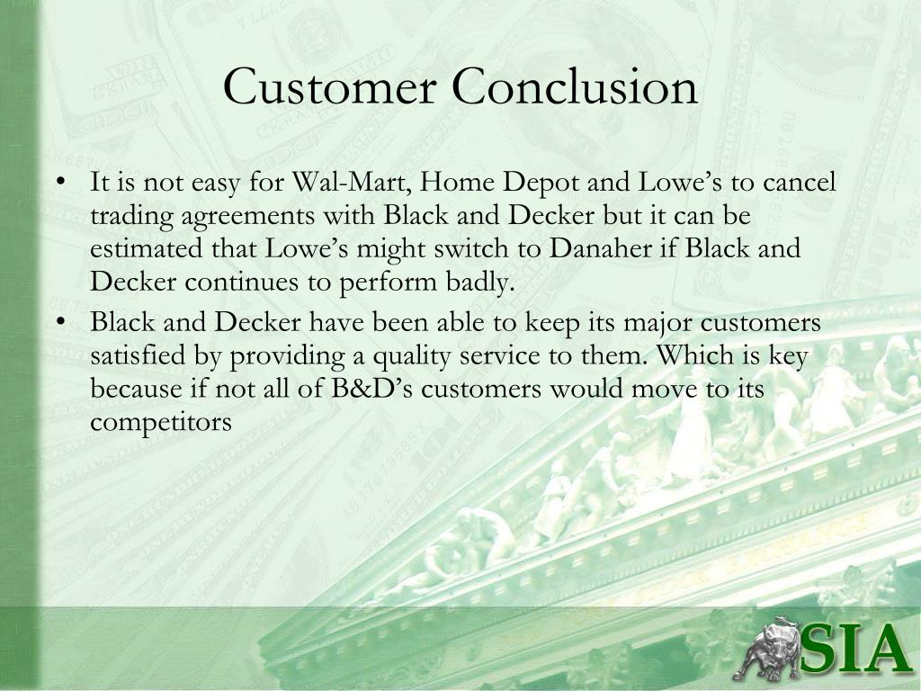 Customer Conclusion