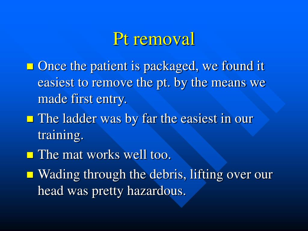 Pt removal
