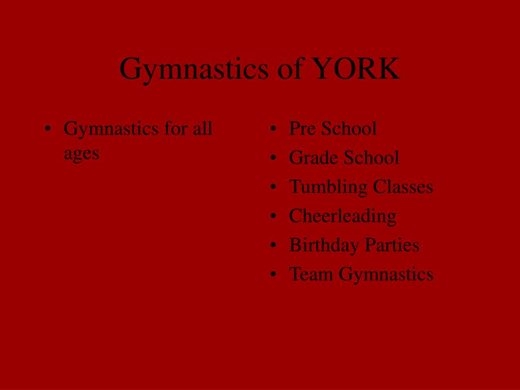Gymnastics for all ages