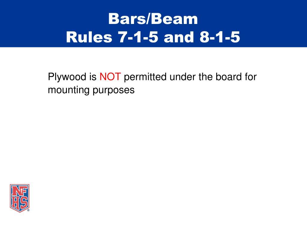 Bars/Beam