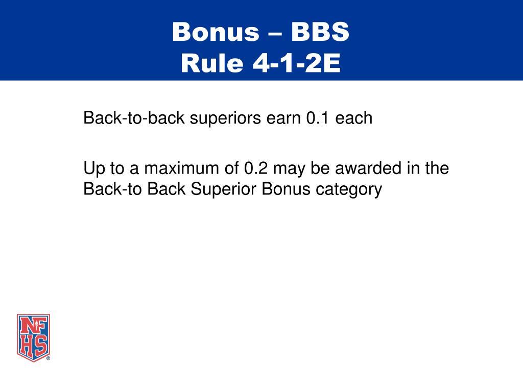 Bonus – BBS