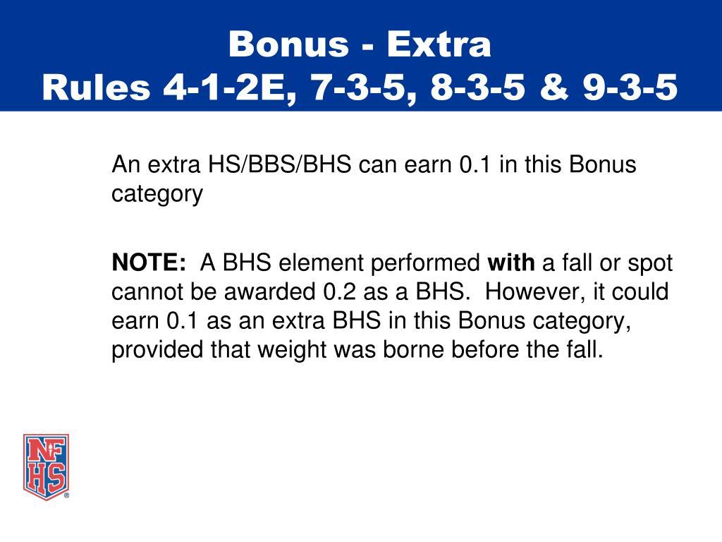 Bonus - Extra