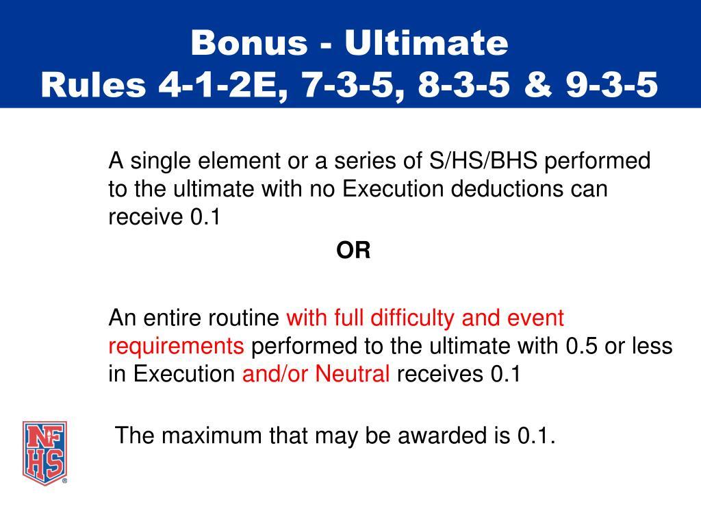Bonus - Ultimate