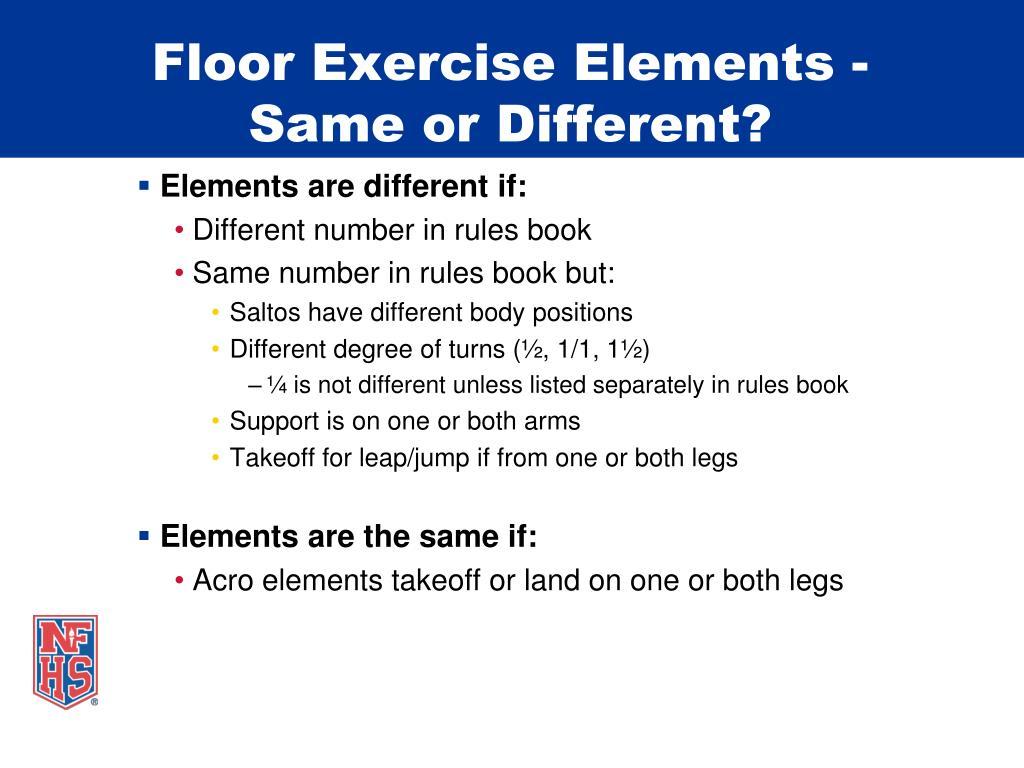 Floor Exercise Elements -