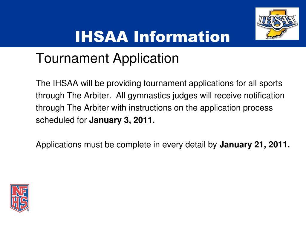 IHSAA Information