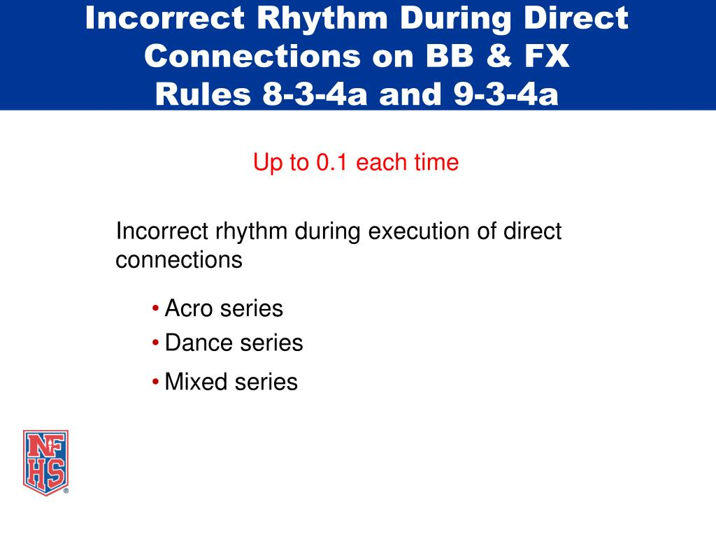Incorrect Rhythm During Direct Connections on BB & FX