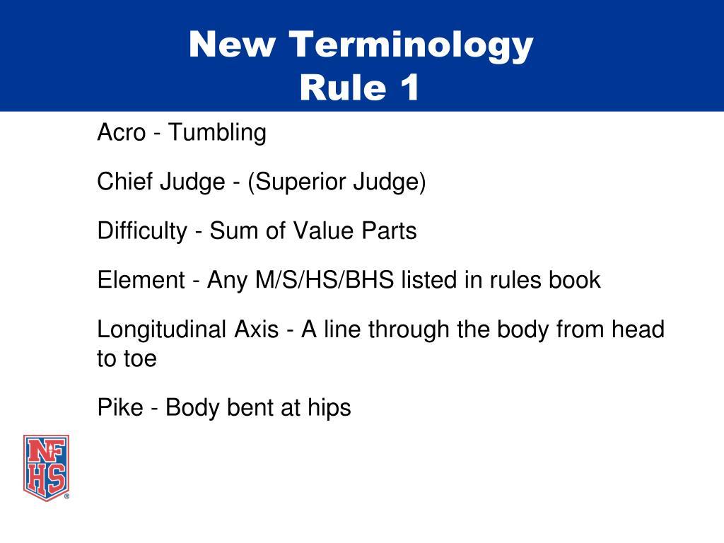 New Terminology