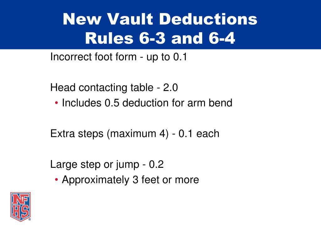 New Vault Deductions