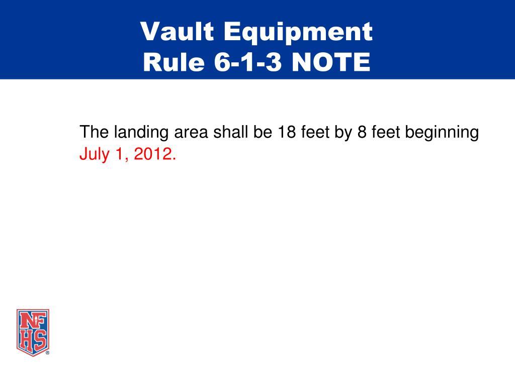 Vault Equipment