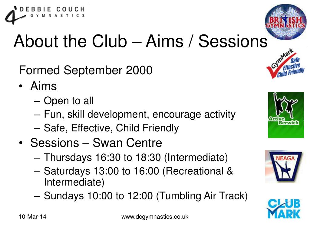 About the Club – Aims / Sessions