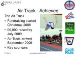 air track achieved