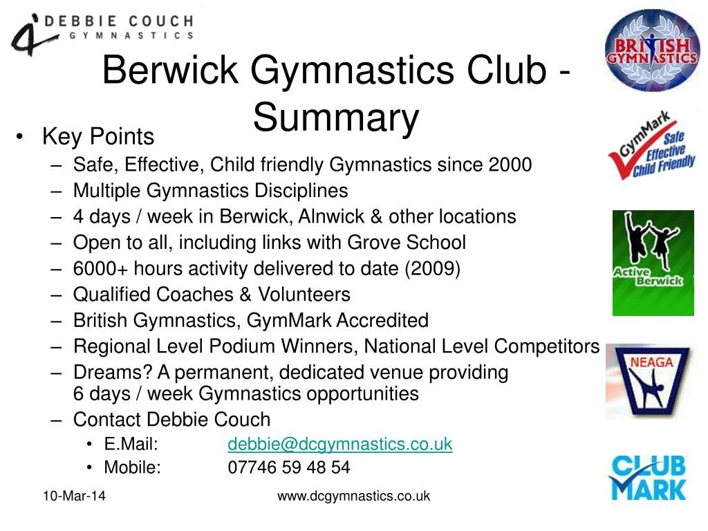 Berwick Gymnastics Club - Summary