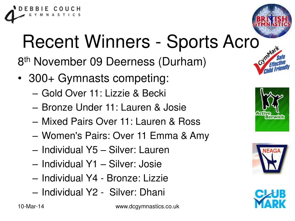 Recent Winners - Sports Acro