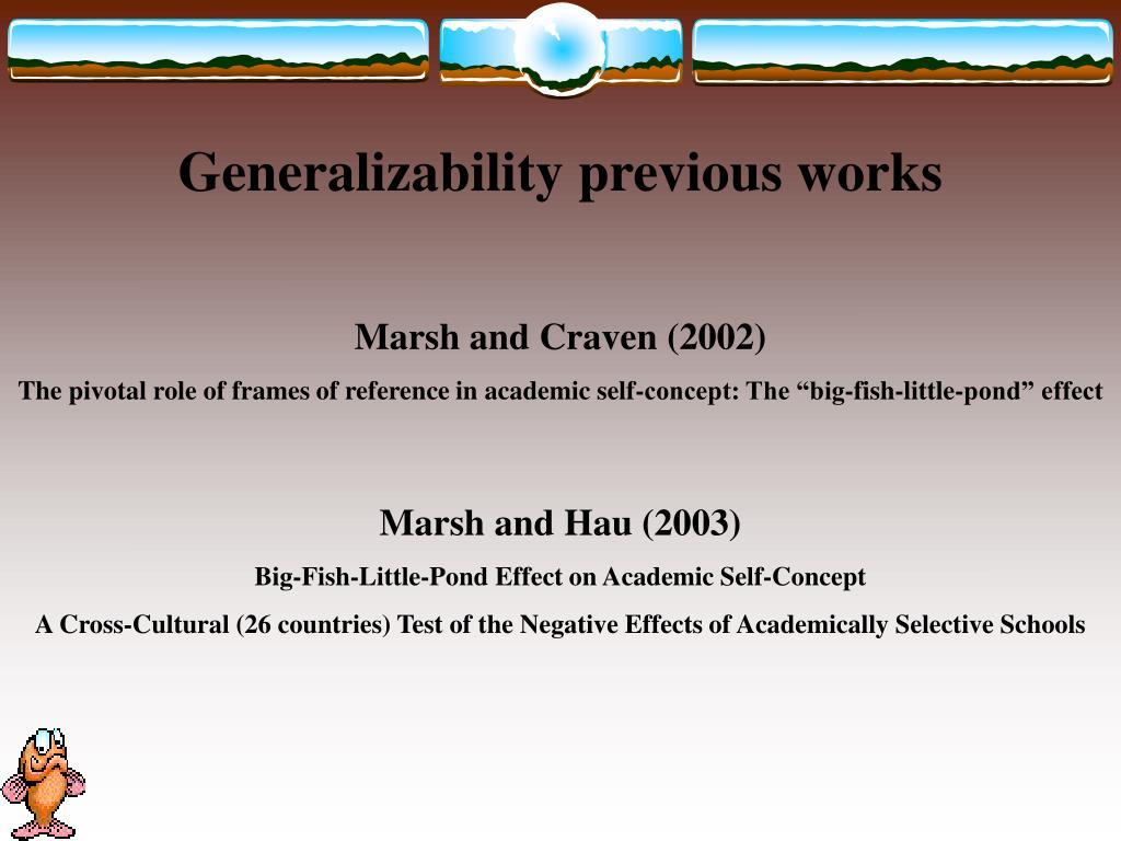 Generalizability previous works