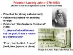 friedrich ludwig jahn 1778 1852 father of german gymnastics and turner societies