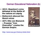 german educational nationalism b