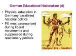 german educational nationalism d