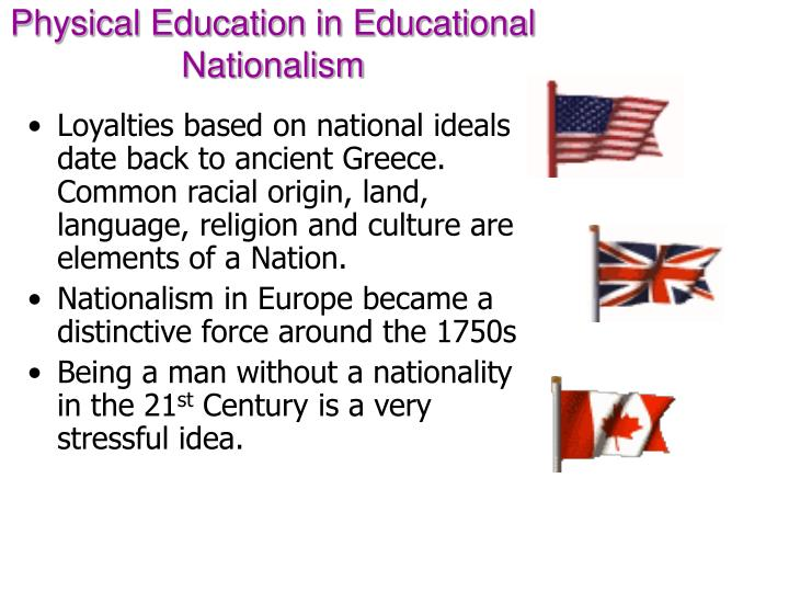 Physical education in educational nationalism