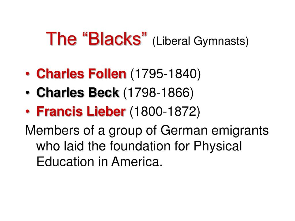 "The ""Blacks"""