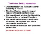 the forces behind nationalism