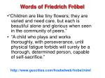 words of friedrich fr bel