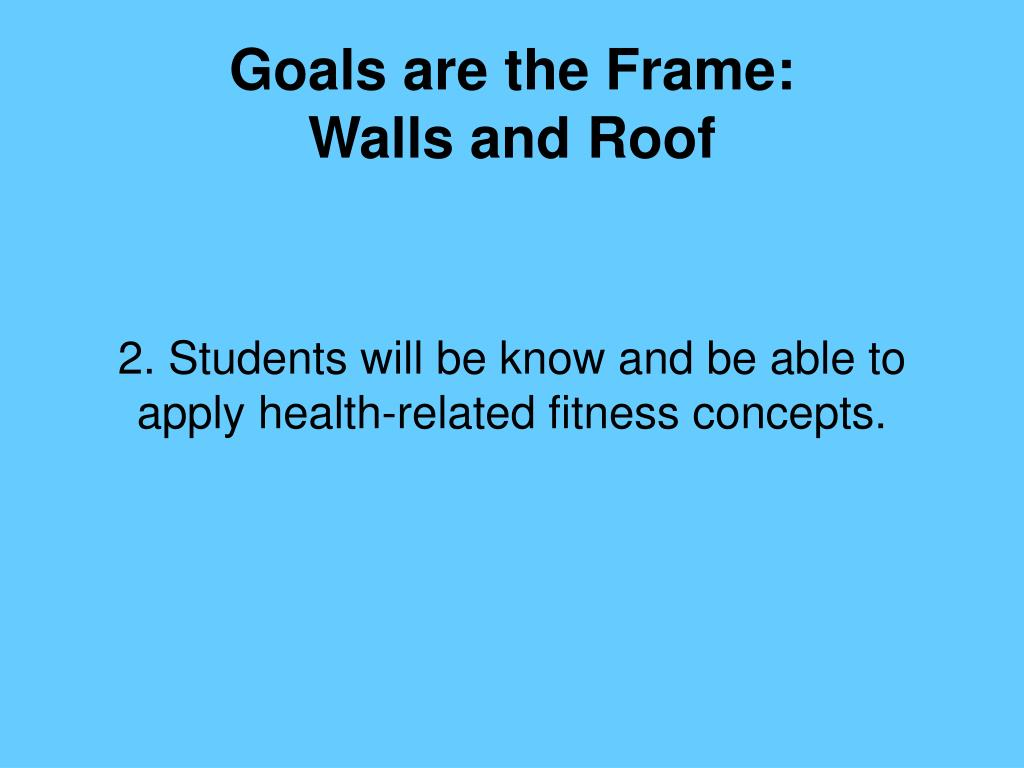 Goals are the Frame: